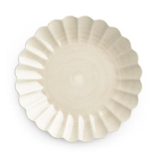 Oyster tallrik 28 cm Sand