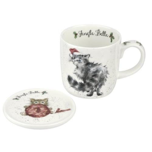Jingle Belle Mugg & Glasunderlägg, 31 cl