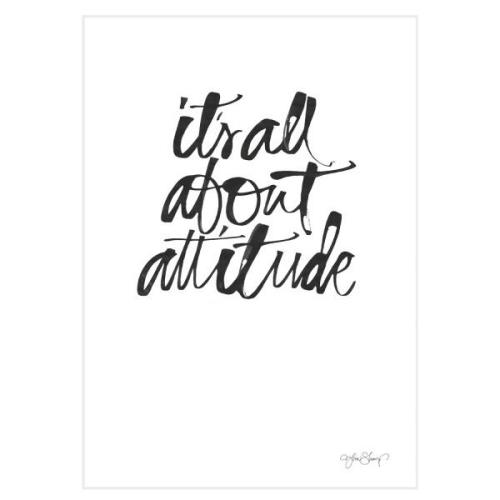 Attitude Poster A4