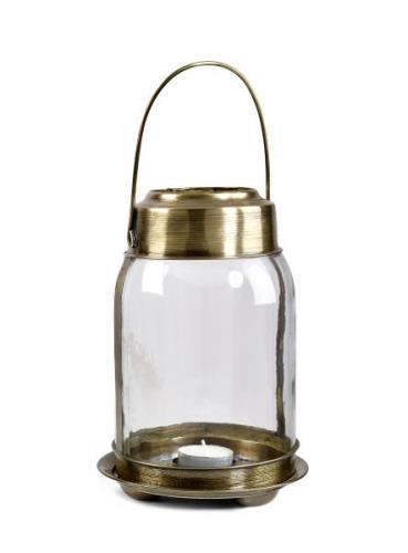 Day home Hurricane Memory Ljuslykta Small H 20 cm Mässing/Glas