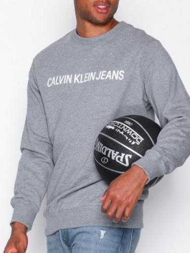 Calvin Klein Jeans Basic Institutional Logo Sweat Tröjor Grey