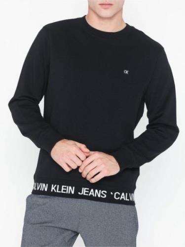 Calvin Klein Jeans Instit Logo Waistband Cn Tröjor Svart