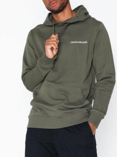 Calvin Klein Jeans Small Instit Reg Hoodie Tröjor Mörk Grön