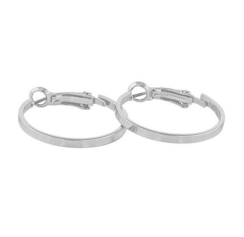 Snö of Sweden Moe Ring Earring Plain Silver 25 mm